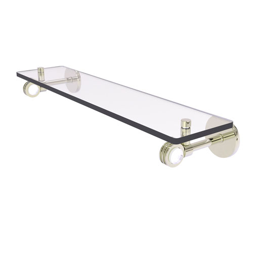 Clearview Polished Nickel 22-Inch Glass Shelf with Dotted Accents