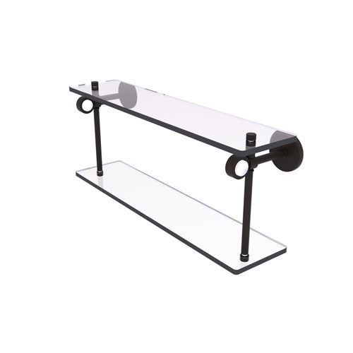 Clearview Oil Rubbed Bronze 16-Inch Two Tiered Glass Shelf