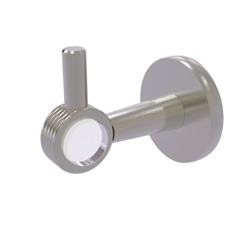 Clearview Satin Nickel Three-Inch Robe Hook with Groovy Accents