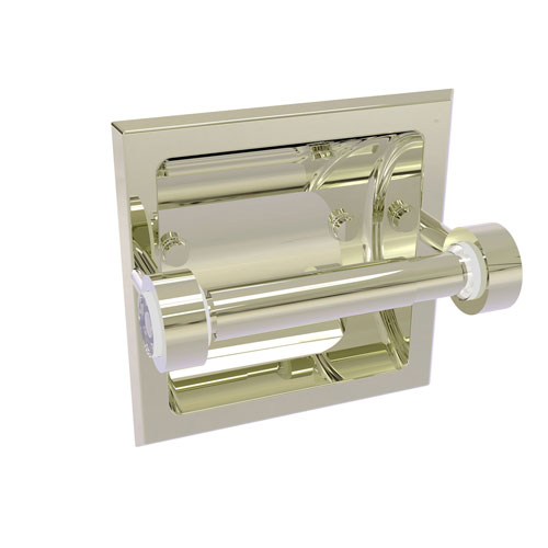 Clearview Polished Nickel Six-Inch Recessed Toilet Paper Holder