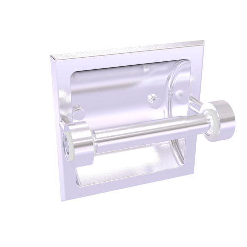 Clearview Satin Chrome Six-Inch Recessed Toilet Paper Holder