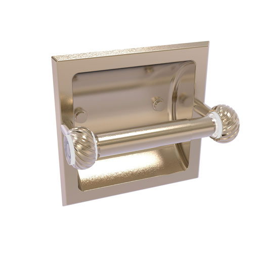 Clearview Antique Pewter Six-Inch Recessed Toilet Paper Holder with Twisted Accents