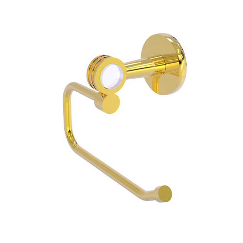 Clearview Polished Brass Six-Inch Toilet Tissue Holder with Dotted Accents