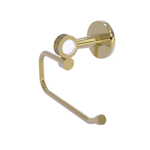 Clearview Unlacquered Brass Six-Inch Toilet Tissue Holder with Dotted Accents