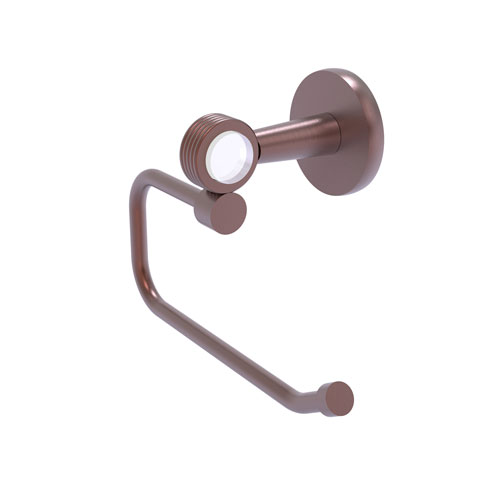 Clearview Antique Copper Six-Inch Toilet Tissue Holder with Groovy Accents