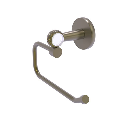 Clearview Antique Brass Six-Inch Toilet Tissue Holder with Twisted Accents