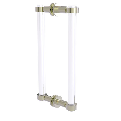 Clearview Polished Nickel 12-Inch Back to Back Shower Door Pull