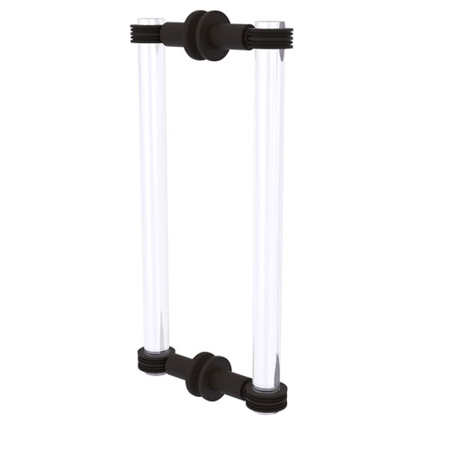 Clearview Oil Rubbed Bronze 12-Inch Back to Back Shower Door Pull with Dotted Accent