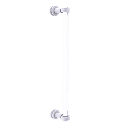 Clearview Matte White 18-Inch Single Side Shower Door Pull