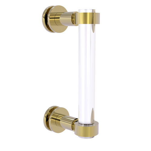 Clearview Unlacquered Brass Eight-Inch Single Side Shower Door Pull