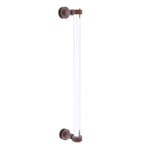 Clearview Antique Copper 18-Inch Single Side Shower Door Pull with Dotted Accents