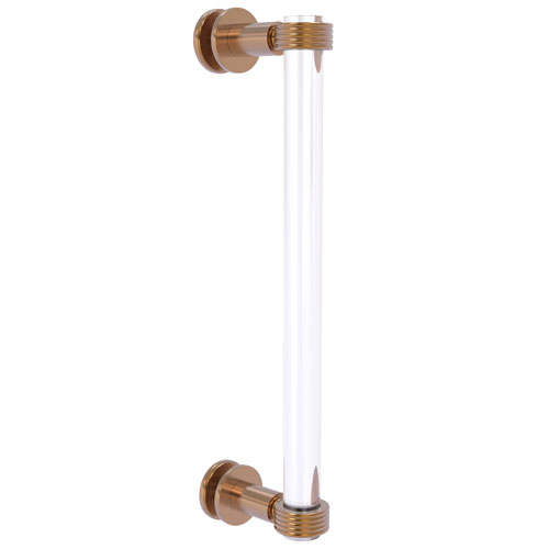 Clearview Brushed Bronze 12-Inch Single Side Shower Door Pull with Groovy Accents