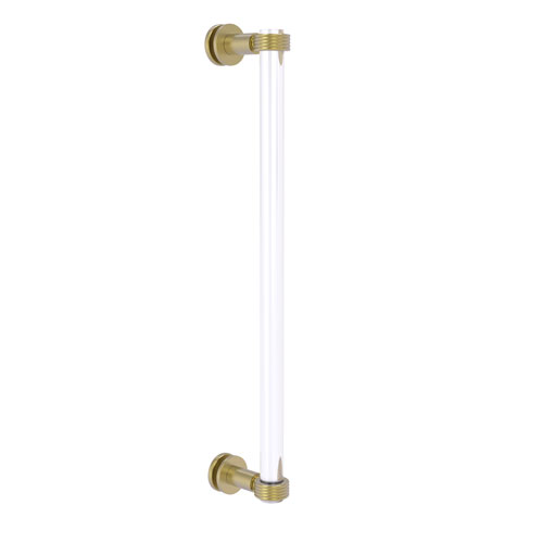 Clearview Satin Brass 18-Inch Single Side Shower Door Pull with Groovy Accents