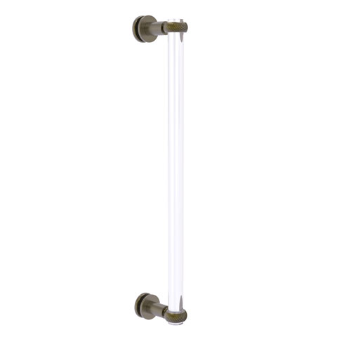 Clearview Antique Brass 18-Inch Single Side Shower Door Pull with Twisted Accents