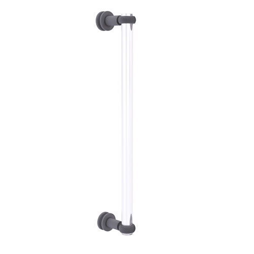Clearview Matte Gray 18-Inch Single Side Shower Door Pull with Twisted Accents