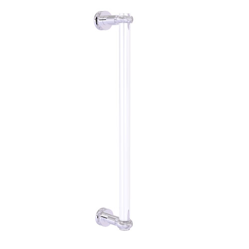Clearview Polished Chrome 18-Inch Single Side Shower Door Pull with Twisted Accents