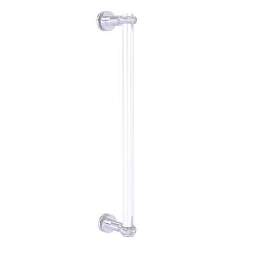 Clearview Satin Chrome 18-Inch Single Side Shower Door Pull with Twisted Accents