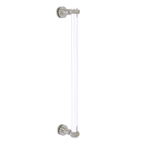 Clearview Satin Nickel 18-Inch Single Side Shower Door Pull with Twisted Accents