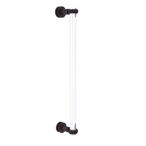 Clearview Venetian Bronze 18-Inch Single Side Shower Door Pull with Twisted Accents