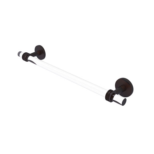 Clearview Venetian Bronze 18-Inch Towel Bar with Dotted Accent