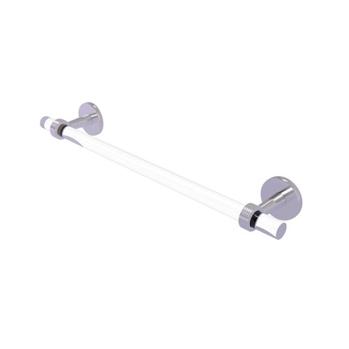 Clearview Satin Chrome 24-Inch Towel Bar with Groovy Accent