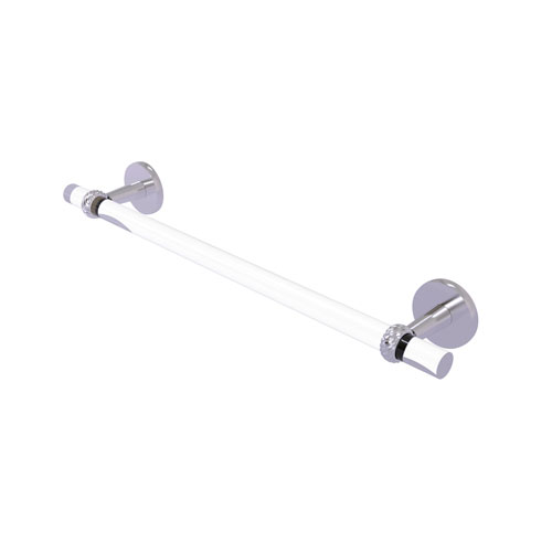 Clearview Satin Chrome 30-Inch Towel Bar with Twisted Accents