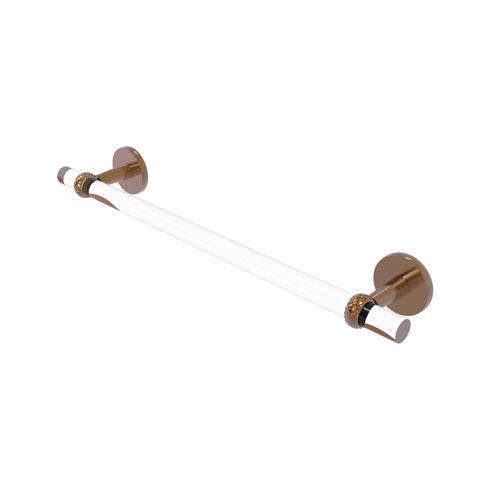 Clearview Brushed Bronze 36-Inch Towel Bar with Twisted Accents