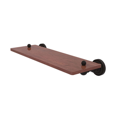 Dottingham Oil Rubbed Bronze 16-Inch Solid IPE Ironwood Shelf