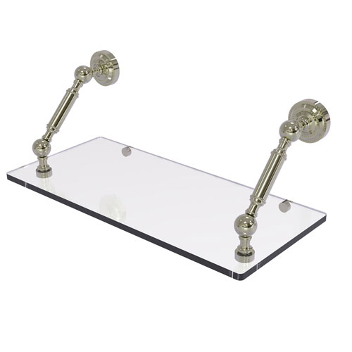 Dottingham Polished Nickel 18-Inch Floating Glass Shelf