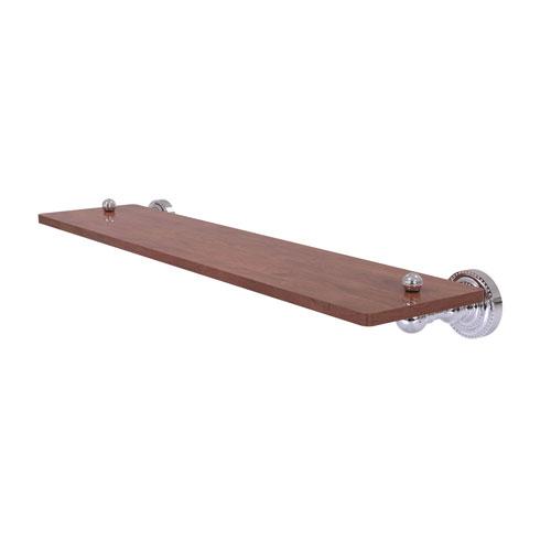 Dottingham Polished Chrome 22-Inch Solid IPE Ironwood Shelf