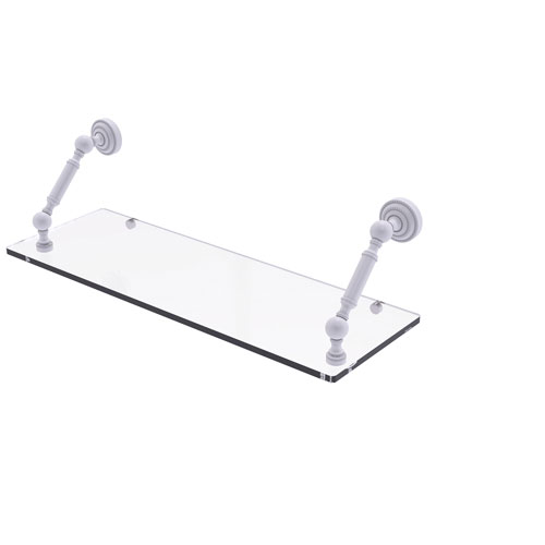 Dottingham Matte White 24-Inch Floating Glass Shelf