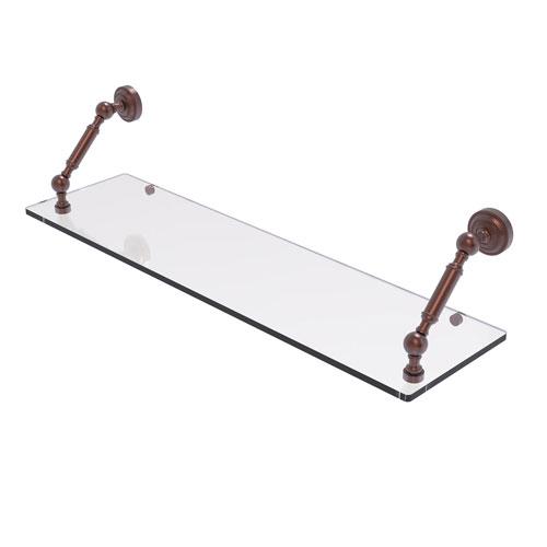 Dottingham Antique Copper 30-Inch Floating Glass Shelf