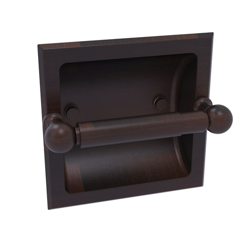 Dottingham Venetian Bronze Six-Inch Recessed Toilet Paper Holder