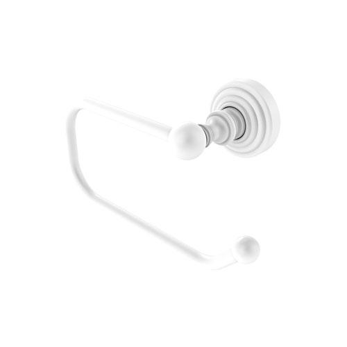 Dottingham Matte White Three-Inch Toilet Tissue Holder