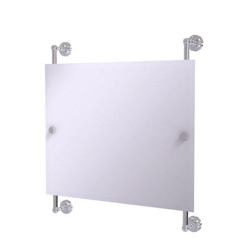 Dottingham Polished Chrome 26-Inch Landscape Rectangular Frameless Rail Mounted Mirror