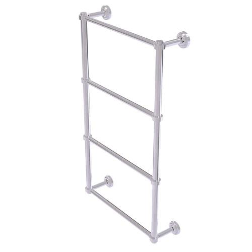 Dottingham Polished Chrome 24-Inch Four-Tier Ladder Towel Bar