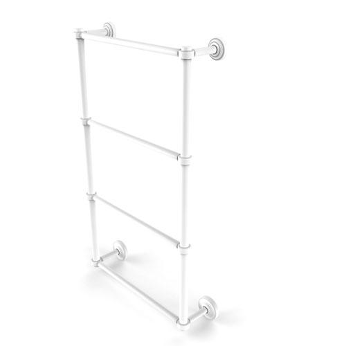 Dottingham Matte White 30-Inch Four-Tier Ladder Towel Bar