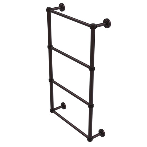 Dottingham Antique Bronze 30-Inch Four Tier Ladder Towel Bar with Dotted Detail