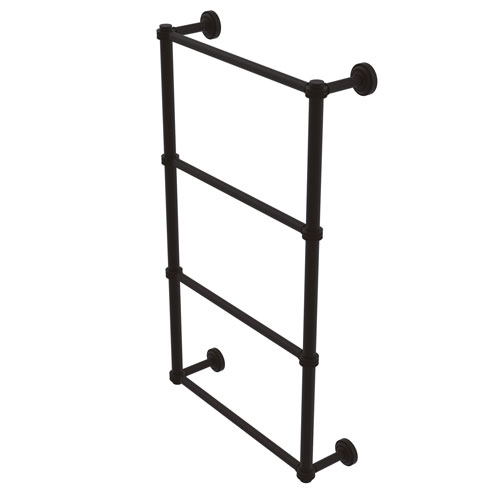Dottingham Oil Rubbed Bronze 30-Inch Four Tier Ladder Towel Bar with Dotted Detail