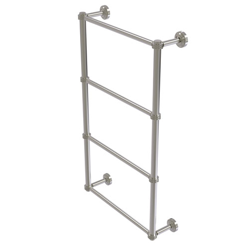 Dottingham Satin Nickel 30-Inch Four Tier Ladder Towel Bar with Dotted Detail
