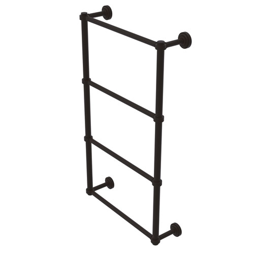 Dottingham Oil Rubbed Bronze 30-Inch Four Tier Ladder Towel Bar with Groovy Detail
