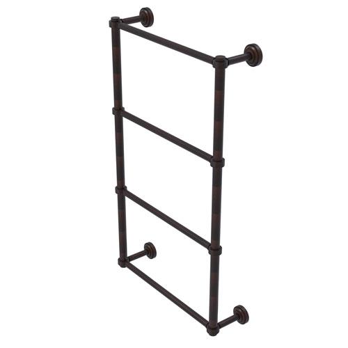 Dottingham Venetian Bronze 30-Inch Four Tier Ladder Towel Bar with Groovy Detail