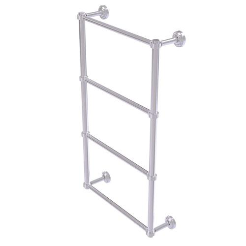 Dottingham Satin Chrome 36-Inch Four Tier Ladder Towel Bar with Groovy Detail