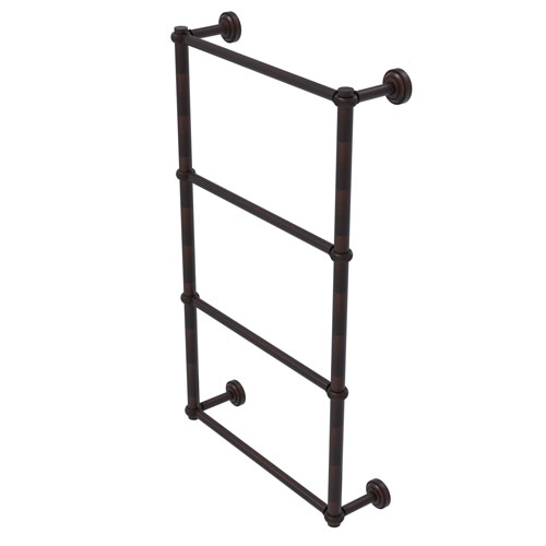 Dottingham Venetian Bronze 24-Inch Four-Tier Ladder Towel Bar with Twisted Detail