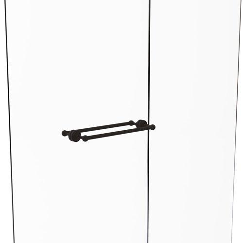 Dottingham Oil Rubbed Bronze 18-Inch Back to Back Shower Door Towel Bar