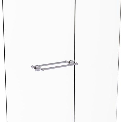 Dottingham Polished Chrome 18-Inch Back to Back Shower Door Towel Bar