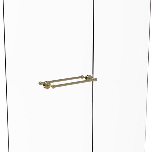 Dottingham Unlacquered Brass 18-Inch Back to Back Shower Door Towel Bar