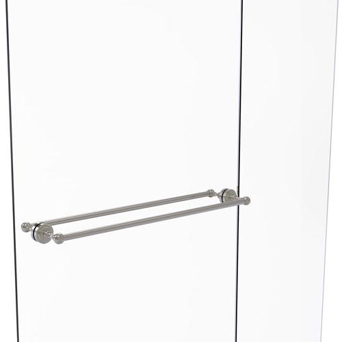 Dottingham Satin Nickel 30-Inch Back to Back Shower Door Towel Bar