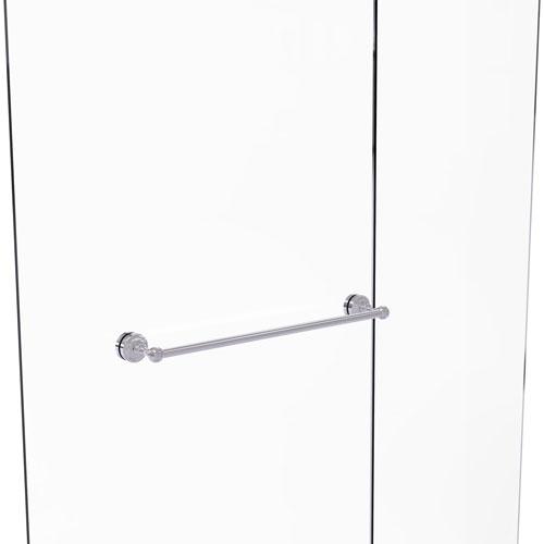 Dottingham Polished Chrome 18-Inch Shower Door Towel Bar