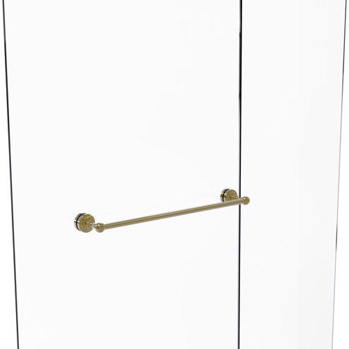 Dottingham Unlacquered Brass 18-Inch Shower Door Towel Bar